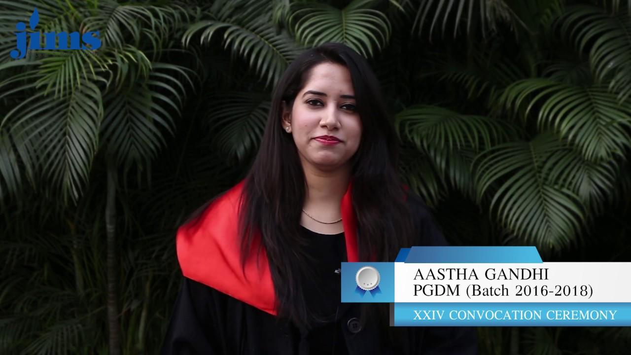 Aastha Gandhi, PGDM (Batch 2016-2018) | JIMS Rohini