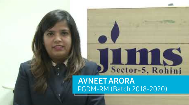 Placement of PGDM – RM Batch l Avneet Arora l JIMS Rohini