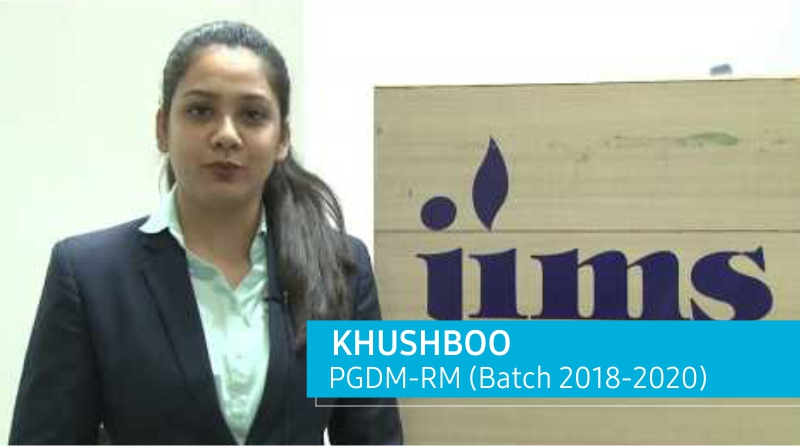 Placement of PGDM – RM Batch l Khushboo l JIMS Rohini