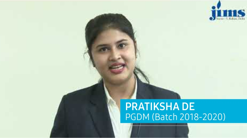 Placement of PGDM Batch 2018-20 l Pratiksha De l JIMS Rohini