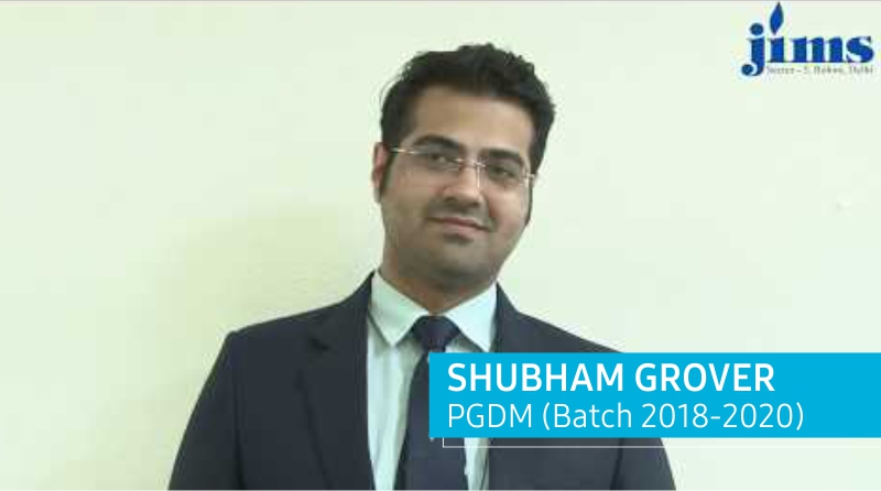 Placement of PGDM Batch 2018-20 l Shubham Grover l JIMS Rohini
