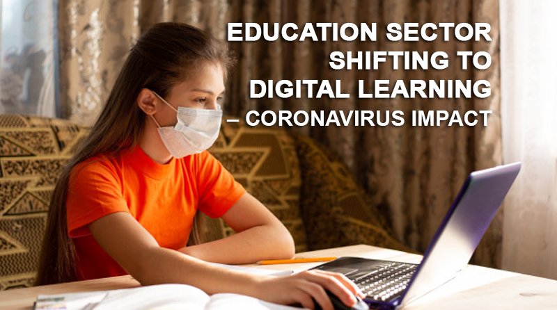 Education sector shifting to Digital learning – Coronavirus Impact