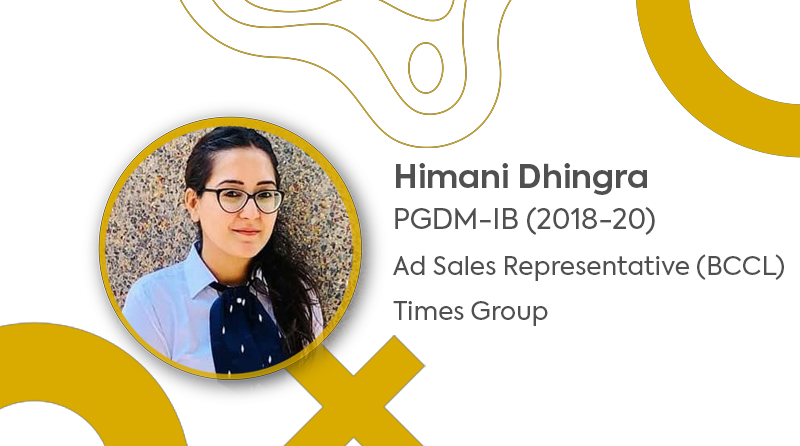 Placement of PGDM – IB Batch l Himani Dhingra l JIMS Rohini