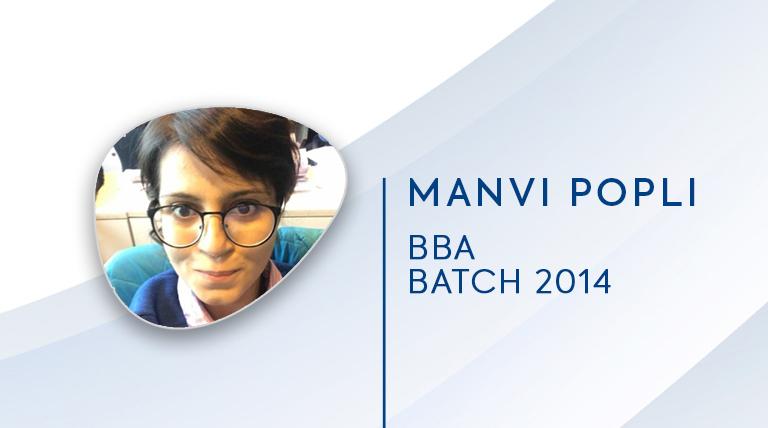 Manvi Popli,Batch(2014-2017)|JIMS Rohini